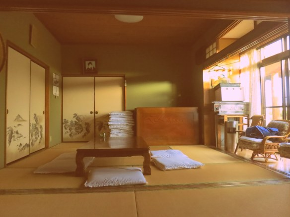Traditional table and tatami mats