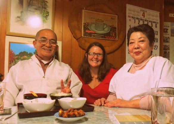 Kuni and Kumiko, my gracious and generous hosts