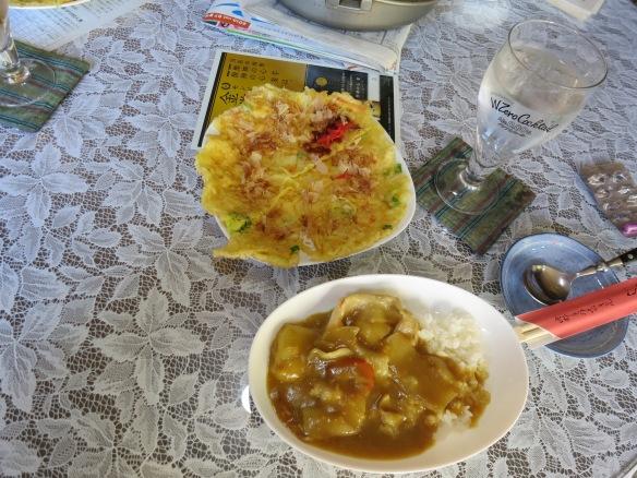 Hira yaki and curry rice