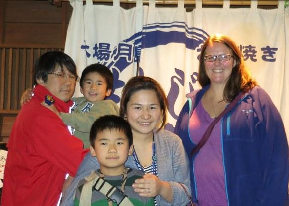 With Eiko and family in Kawagoe