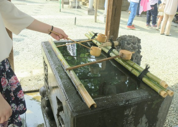 Hand washing at the shrine