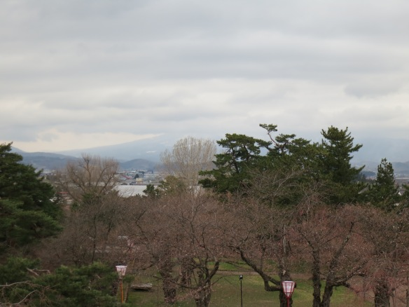 View from the guard tower of Hirosaki Castle