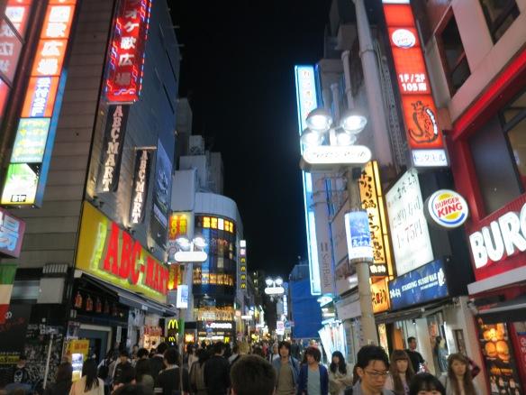 The neon of Shibuya