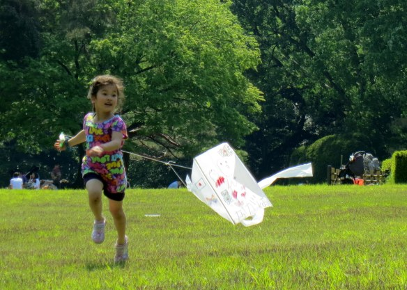 Doesn't this just make you love kids, and kites, and life?