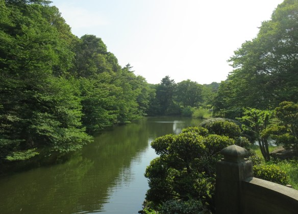 The peaceful gardens surrounding the shrine