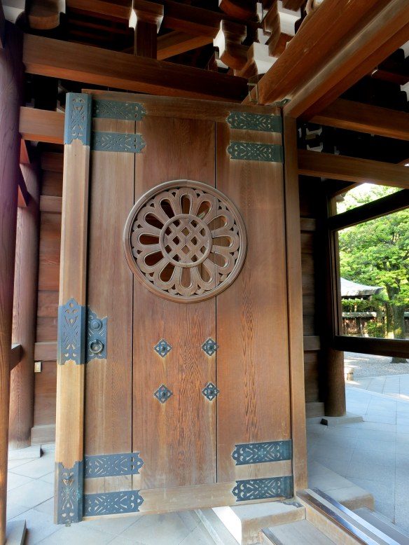 One of the massive doors to the shrine