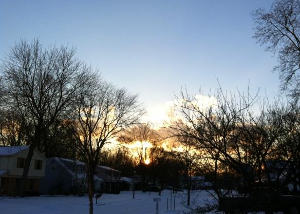 Sunset, East Lansing, Michigan
