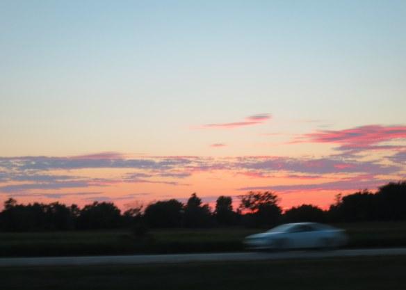 Sunset, on I-69, Michigan