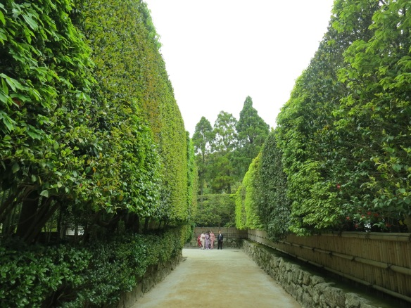 The approach to the temple was direct, but felt like a giant maze because of the huge hedges