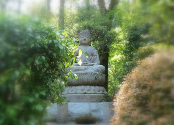 In the gardens of Ryoan-ji