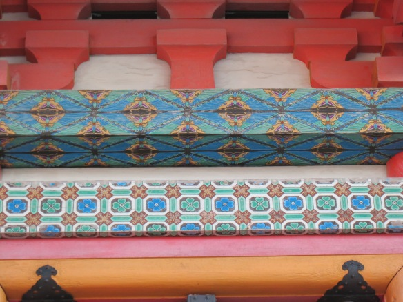 Detail on one of the structures at Kiyomizu