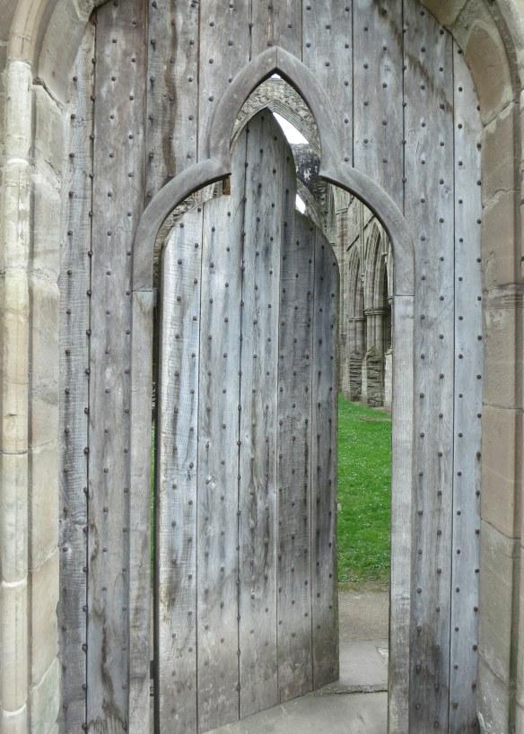 Rebuilt church door