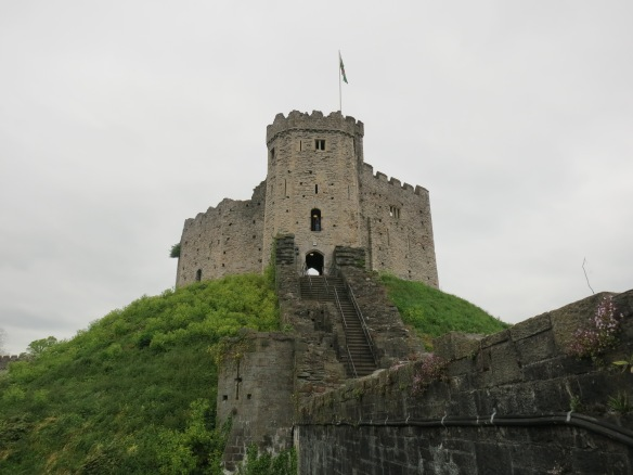 What's left of the keep of Cardiff Castle in Wales