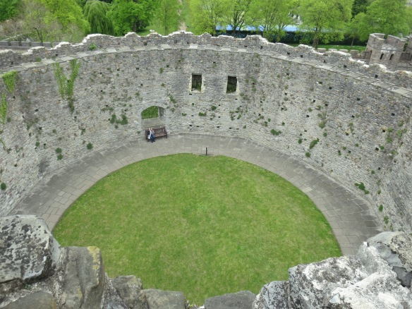Inside the keep