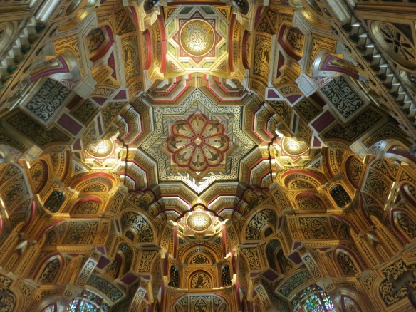 The ceiling of the Arab Room