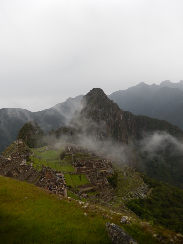 Machu Picchu in the morning mist