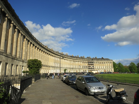Royal Crescent, which looks out over a large park