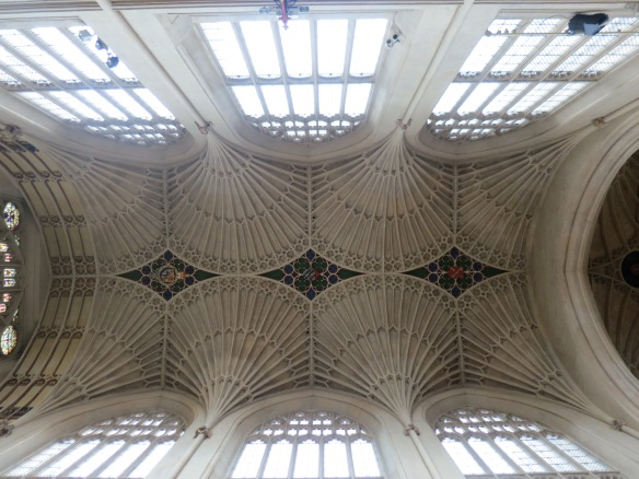 The ceiling of the abbey--I love that design