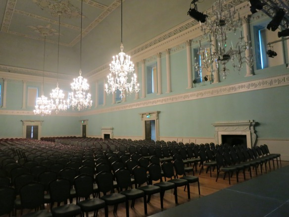 The music room of the Assembly Rooms, ready for a concert that night