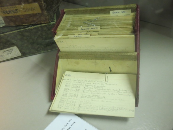 Some of the many files the codebreakers worked with