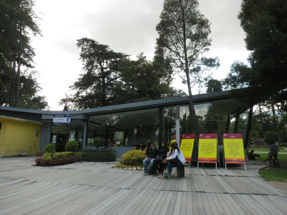 A library in the middle of the park--brilliant!
