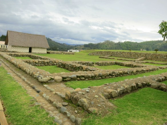 The foundation stones of the grand Inca building that used to be here
