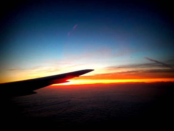 Sunset, Somewhere over Chile or Peru