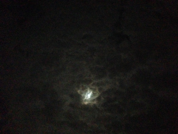 Most nights, the moon had a giant ring around it, and only occasionally was it obscured by clouds