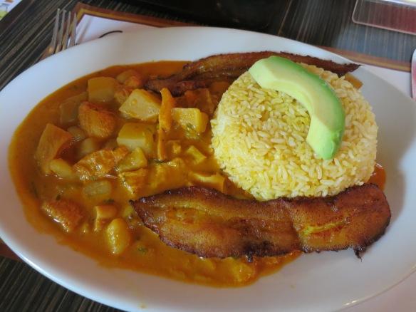 Guatita, beef tripe in a peanut sauce--a popular dish in Guayaquil