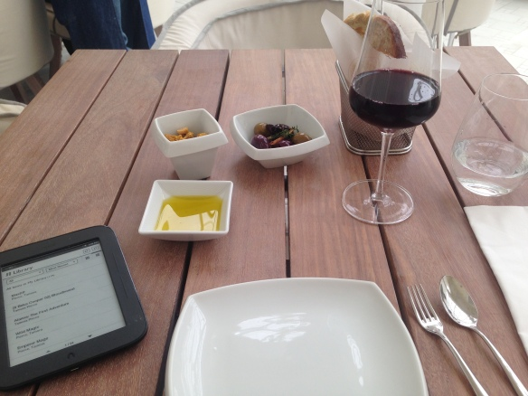 Starters and an Argentinian wine