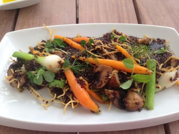 Black quinoa dish