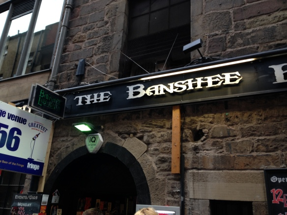 The Banshee Labyrinth, home of most spoken word acts of the PBH Free Fringe, friendly bartenders, good fun