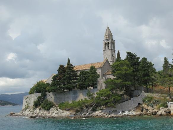 The church on Lopud Island