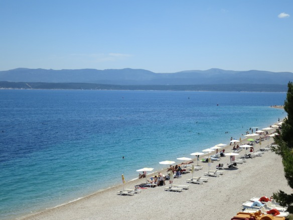Bol Beach on the island of Brac