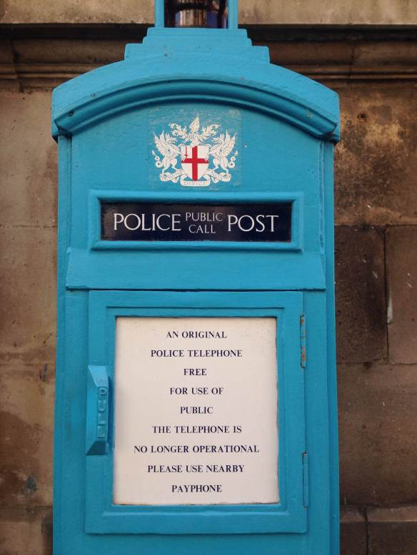 london england blue box