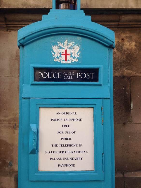 london england blue box