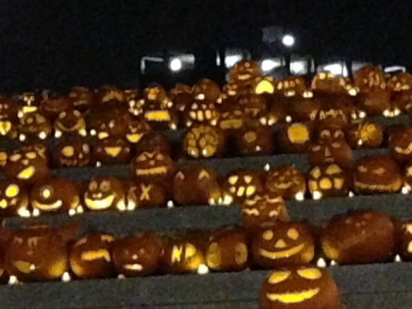 Pumpkins on display at King's Cross