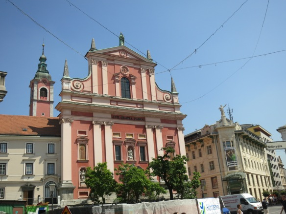 Franciscan church in Prešeren Square