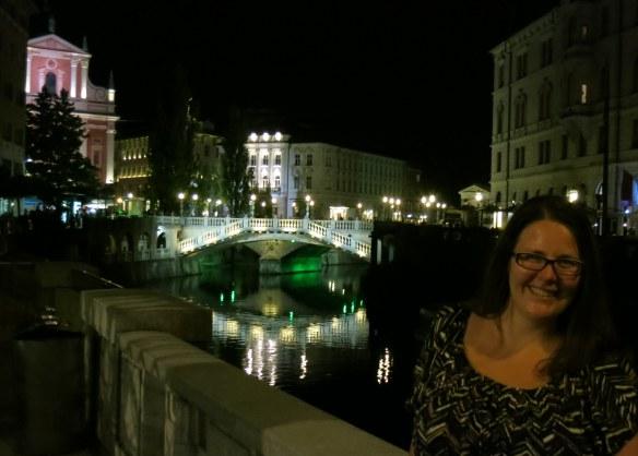 The Triple Bridge at night