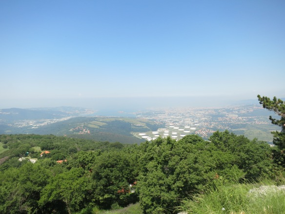 We stopped at a lookout point to get this view of Trieste in Italy, just across the border, and what little is left of the Slovenian coastline after Croatia and Italy took most of it.