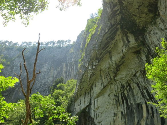Aboveground but still in a valley, outside Skocjan Caves