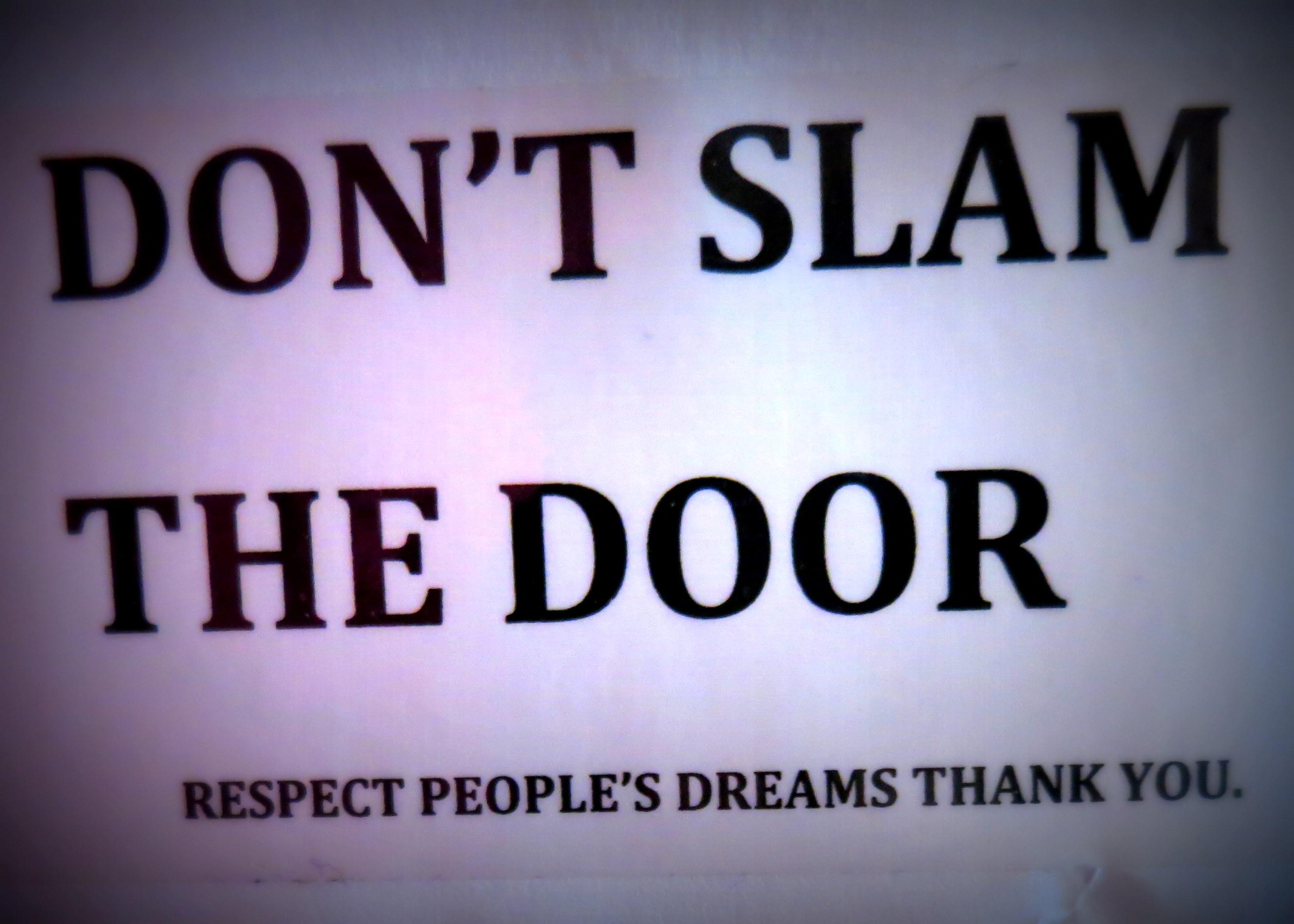 Don t slam the door stowaway travel writing editorial