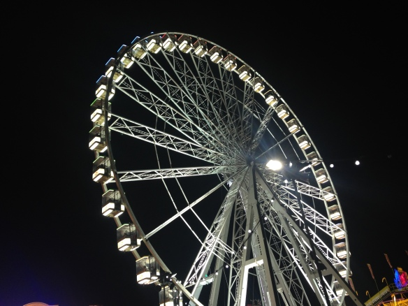 Winter Wonderland 'giant wheel' -- not sure why they don't call them Ferris wheels over here