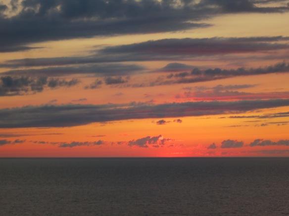 Sunset, near Northport, Michigan