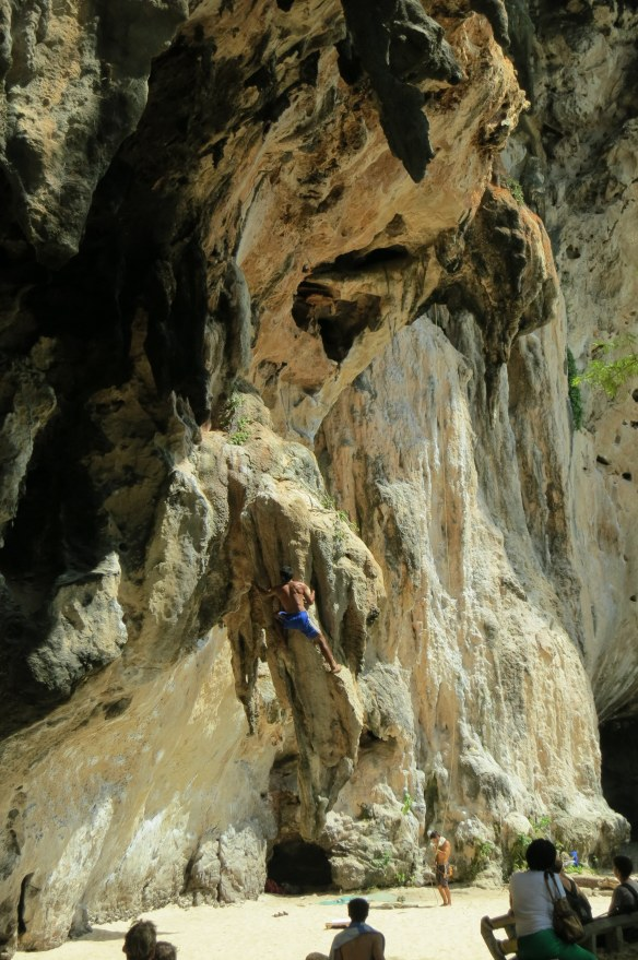 Free climbing in Thailand