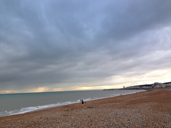 The beach at Hastings