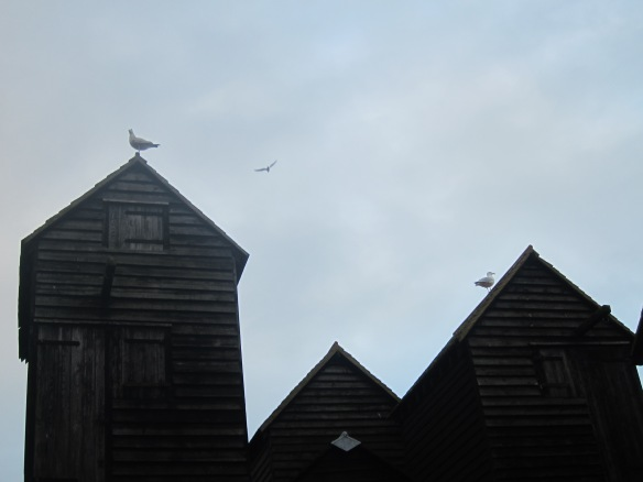The tall fish huts of Hastings