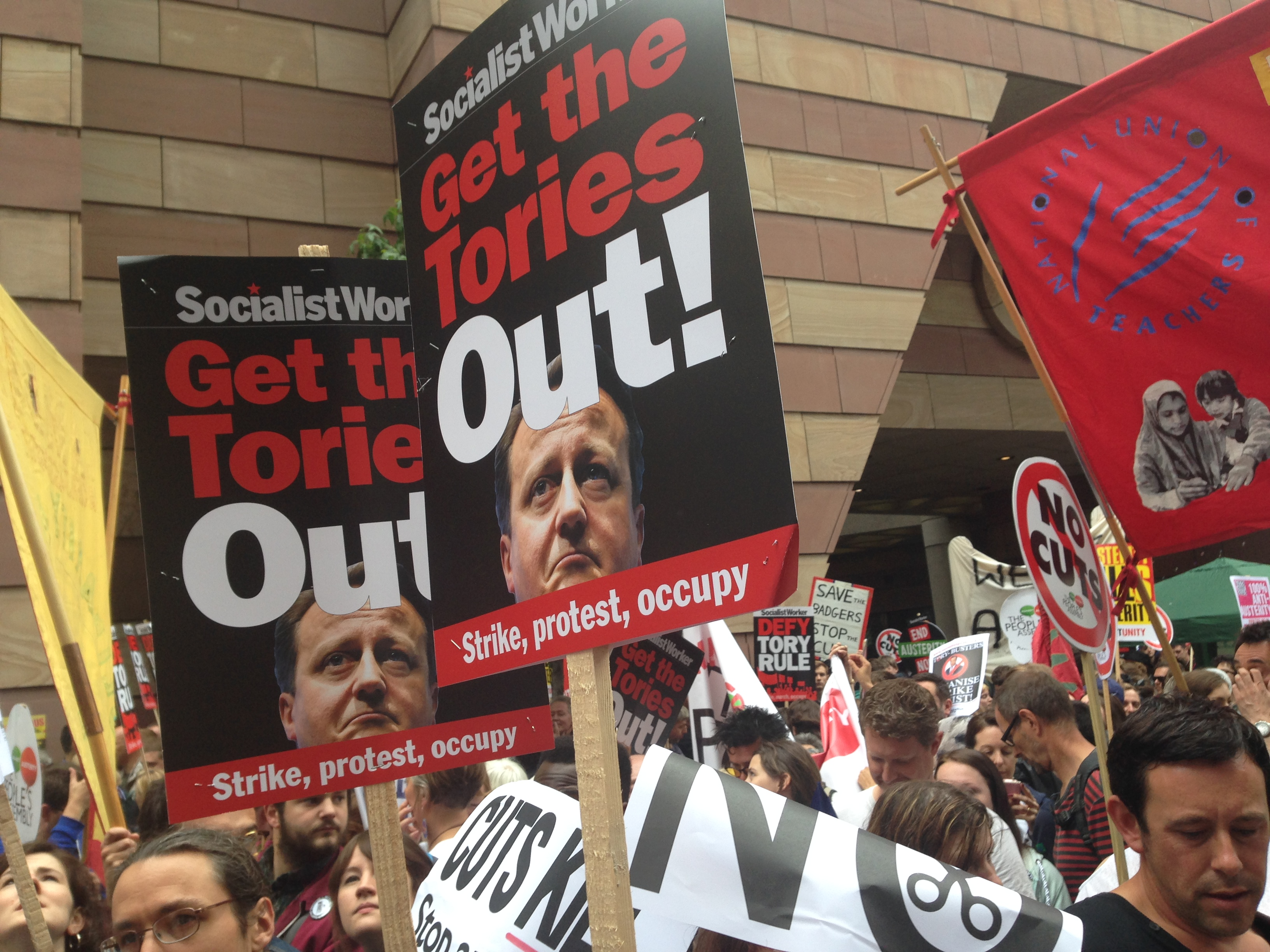 """People used to shout """"Maggie, Maggie, Maggie"""" """"Out, Out, Out!"""" at anti-Thatcher demos in the '80s. Today, a simple """"Tory, Tory, Tory"""" will get the same response."""