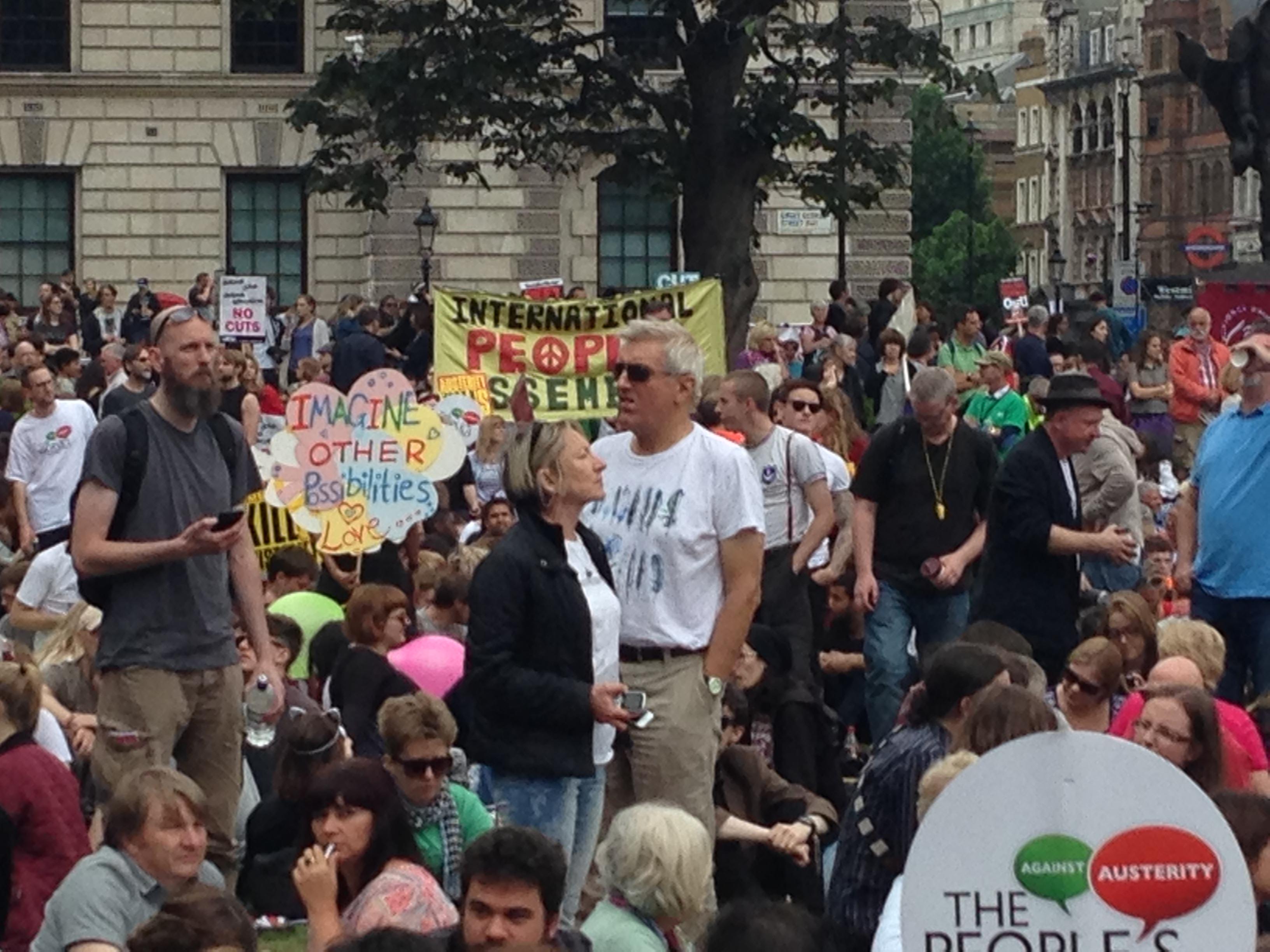 #EndAusterityNow Demo in London