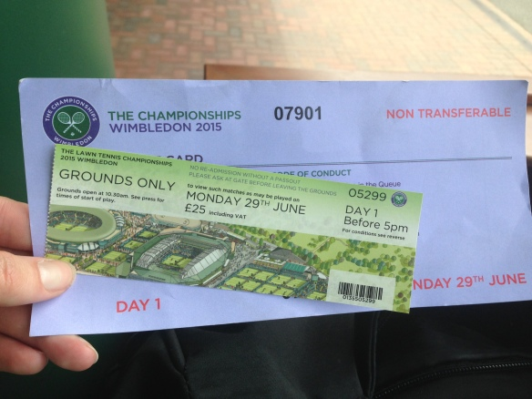 Queue ticket and entry ticket